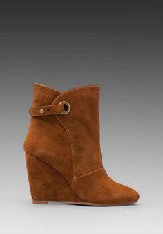 Madison Harding Susan Suede Wedge Strap Boot