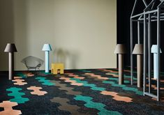 With The Art of Performance, Bolon highlights the aspect of designability, sustainability, cleanability and durability. The four pillars of what makes our flooring so great. Grey Flooring, Floors, Green And Grey, Artisan, Kids Rugs, Interior, Design, Surface, Home Decor