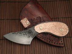 Custom knives by Ben Tendick  Copper clad