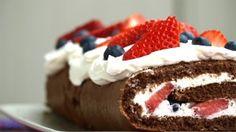 Recept - Chocolade rolcake zonder suiker - met Zonnigfruit