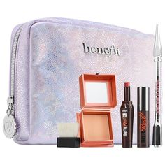 City Lights, Party Nights Set - Benefit Cosmetics | Sephora Holiday Makeup Looks, Lemon Benefits, Benefit Cosmetics, Mineral Cosmetics, Long Lashes, City Lights, Makeup Collection, Makeup Remover, Just In Case