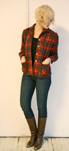 1940s vintage // Pendleton Plaid Knockabouts by dethrosevintage, $75.00