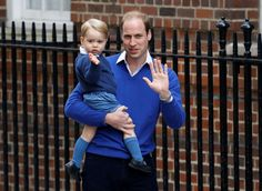 Prince William and his son Prince George - Kirsty Wigglesworth/AP