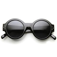 Women's Retro Euro Bold Thick Round Frame Sunglasses 9491 - zeroUV