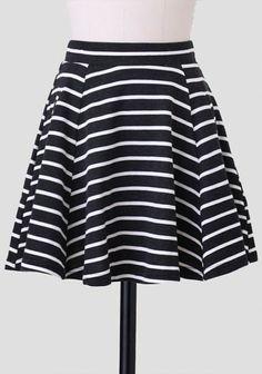 Simply Joyful Striped Skirt