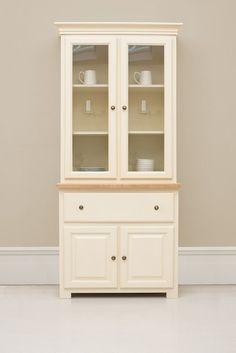 105cm fully glazed dresser two door
