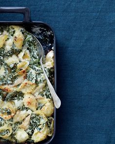 Many recipes with Kale, like this chicken and kale casserole with ricotta, and Parmesan...mmm.
