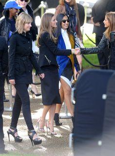 Olivia Palermo Photos: LFW: Arrivals at Burberry Prorsum