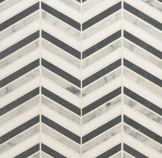Custom Cut Chevron pattern | Oregon Tile & Marble