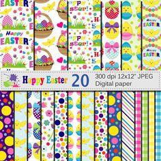 Easter Digital Paper SetHappy Easter Digital by VRDigitalDesign