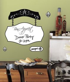 RoomMates Bon Appetit Dry Erase Peel & Stick Giant Wall Decals