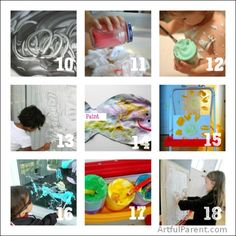 Shaving Cream Art Ideas