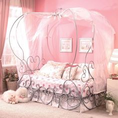 Princess Pumpkin Canopy Twin Bed & Coaster Princess Canopy Bed | Kiddos | Pinterest | Twin beds ...