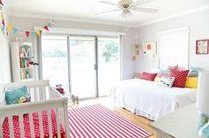 Un dormitorio de bebé a todo color, ¡precioso!