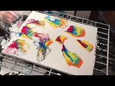 Negative Space Pour Painting Using Compressed Air (15) - YouTube