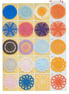 Lots and lots of circle motifs with diagrams
