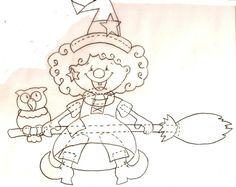 Gabarit - Petite sorcière et son balai