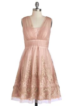 Layered Petit Fours Dress. As sweet as a tiered dessert spread this fit-and-flare dress adds delight to the day. #pink #prom #wedding #bridesmaid #modcloth