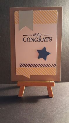Congrats Card www.etsy.com/shop/jengirlsdesigns #etsy #jengirlsdesigns #handmade #card #handmadecard #congrats #congratulations #etsysellers #etsyusa #etsyfinds #greetingcards #papercrafts #papercrafting #cardmaking #etsyshop #etsystore #etsyseller #smallbiz #womanownedbiz