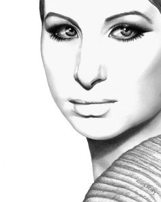 PENCIL DRAWING OF BARBRA STREISAND - Google Search