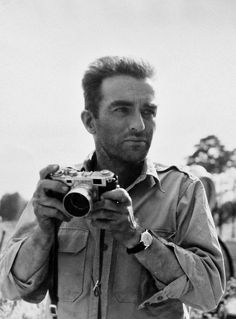 Monty Clift taking photos on the set of The Young Lions. Description from pinterest.com. I searched for this on bing.com/images