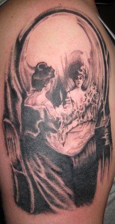 All Is Vanity - C. Allan Gilbert, Tattoo by John Robinson Body Art Tattoos, I Tattoo, All Is Vanity, Night Circus, Badass, Piercings, Goal, Tattoo Ideas, Ink