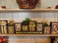 Together Wood Block Sign by ktuschel on Etsy