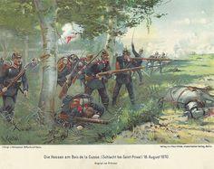 Die Hessen am Bois de la Cusse(Schlacht bei Saint Privat) 18th August 1870. By Knotel