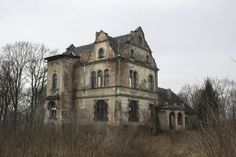 Abandoned manor house from XIX century.