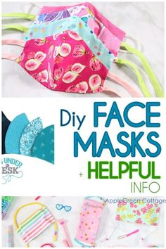 Updated to include all types of diy face masks, even the latest box-pleated face mask! - See how to make face masks with these diy face mask patterns. Free patterns to make non-surgical homemade face protection masks, fitted face masks and pleated face mask patterns plus a lot of face mask sewing tips and resources. Check them out now! #facemask #diyfacemask #homemadefacemask #covid