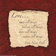 Love Never Fails!
