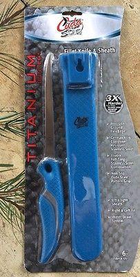 Cuda Fishing Products ~ Cuda 6 Titanium Fillet Knife & Sheath