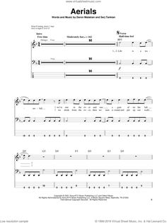Down - Aerials sheet music for bass (tablature) (bass guitar) Bass Guitar Sheet Music, Bass Guitar Notes, Guitar Tabs, Digital Sheet Music, System Of A Down, Things That Bounce, How To Become, People, Tablature