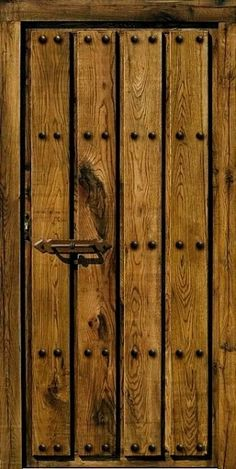 New Rustic Front Door Entrance Bricks Ideas Rustic Doors, Wood Doors, Gate Design, Door Design, The Doors, Sliding Doors, Medieval Door, Front Door Entrance, Garden Doors