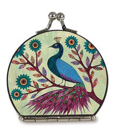 Another great find on #zulily! Blue Peacock Compact Mirror #zulilyfinds