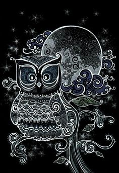 Black and White Line-Art Owl Owl Wallpaper, Animal Wallpaper, Composition Photo, Owl Pictures, Owl Always Love You, Beautiful Owl, Owl Bird, Cute Owl, Chalkboard Art