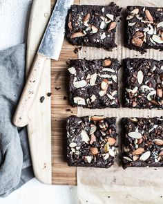 fudgy nut + seed butter brownies from the first mess cookbook | what's cooking good looking