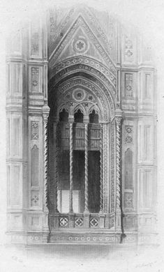 John Ruskin, The Seven Lamps of Architecture, 1855 Plate IX, Tracery from the Camapnile of Giotto, Florence, p. 94