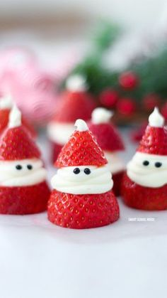 Strawberry Santas | Community Post: 15 Easy Christmas Treats That Are Almost Too Adorable To Eat
