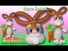 Big Easter Bunny Balloon Animal | ChiTwist Chicago Balloon Twisting