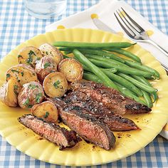 Balsamic-Marinated Flank Steak #recipe