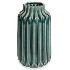 Vase en céramique bleu H.23cm PLIAGE