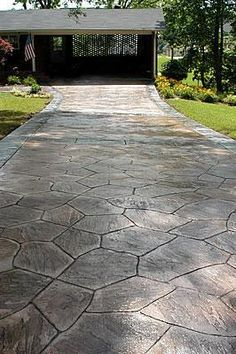 Flagstone, Natural Concrete Driveways Decorative Concrete Institute Temple,  ...