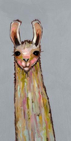 Baby Llama print by Eli Halpin