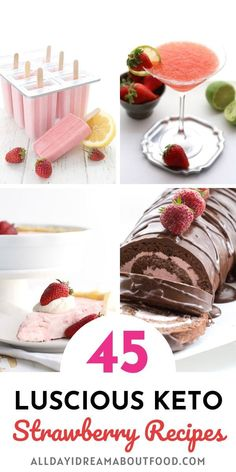 Strawberry, luscious luscious strawberries.Who doesn't love strawberry season? And I've got all the best low carb and keto strawberry recipes right here. Dig in! Low Carb Sweets, Low Carb Desserts, Low Carb Recipes, Cooking Recipes, Low Carb Grocery, Keto Fruit, Ketogenic Recipes, Ketogenic Diet, Ketosis Foods