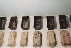 cheryl coon Flour & Ashes photos, wax, flour, ashes, baking pans, family letters