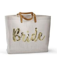 Shop Women's Mud Pie Cream Gold size Bags at a discounted price at Poshmark. Description: NWOT Cutest tote for the bride to be! This bag features vegan leather and gold sequins! Sold by audiedani. Wedding Gifts For Groom, Bride Gifts, Jute Tote Bags, Low Cost Wedding, Budget Wedding, Perfect Bride, Beautiful Bride, Mud Pie, Bridal Shower Gifts