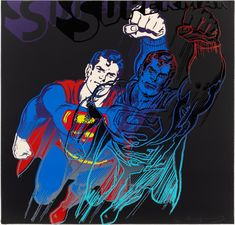 Happy birthday to the Superman of Pop Art, Andy Warhol, born on this day, 1928! 🎈🎉 Andy Warhol (American, 1928-1987) Superman, 1981 | Sold at Hindman: $200,000 Canvas Signs, Canvas Wall Art, Art Andy Warhol, Painting Bathroom Walls, Superman, Pop Art, Best Canvas, Fine Art Auctions, Cultura Pop