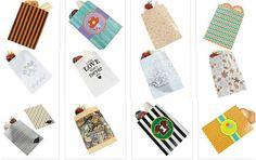 variedad de bolsas de papel
