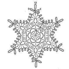 15 crochet snowflakes patterns- free patterns - Turquoise with vanilla Free Crochet Snowflake Patterns, Crochet Motifs, Crochet Stars, Christmas Crochet Patterns, Holiday Crochet, Crochet Snowflakes, Crochet Diagram, Doily Patterns, Thread Crochet